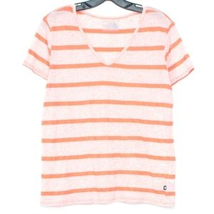 The North Face Top Flax Stripe V Neck Large K1